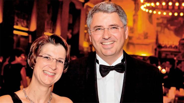 Severin Schwan mit Ehefrau Ingeborg, fotografiert an einem Benefiz-Ball in Basel zugunsten der Kinderspitex Nordwestschweiz.
