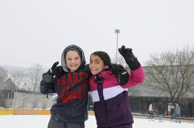 Die Freude der Kinder auf dem Eis ist gross.