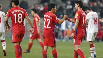 WM-Qualifikation geschafft: Die Südkoreaner können abklatschen