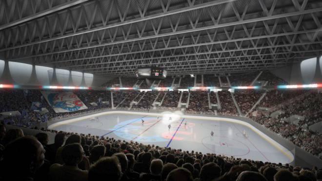 Widerstand von links: Visualisierung der geplanten ZSC-Arena mit 11 600 Plätzen. Foto: ho
