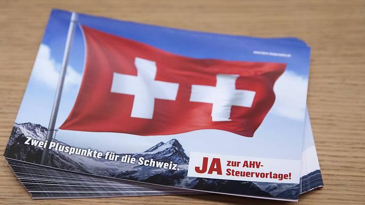 Am 19. Mai stimmen die Schweizer Stimmbürger über die AHV-Steuervorlage ab.