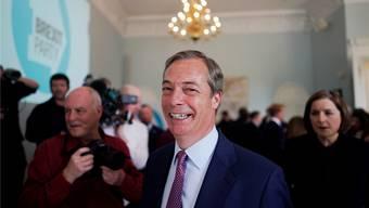 Hat gut lachen: Brexit-Vorkämpfer Nigel Farage liegt in Wahl-Umfragen vorn. Key