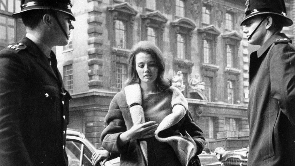 Christine Keeler im Alter von 21 Jahren in London. (Archivbild)