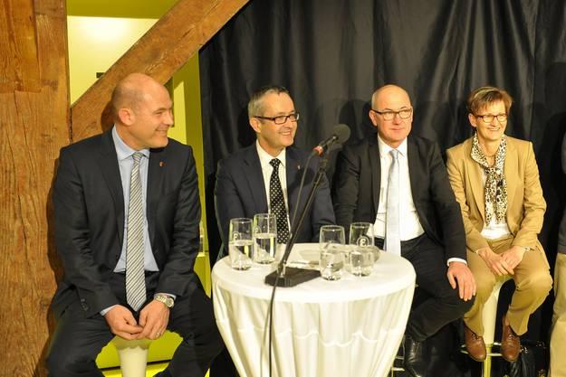 Die Bisherigen Anton Lauber,Thomas Weber,Isaac Reber und Sabine Pegoraro.