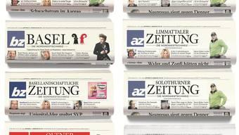 «Die Nordwestschweiz» wird als Schriftzug in die Titel-Logos der einzelnen Regionaltitel integriert.
