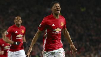 Marcus Rashford erzielte das entscheidende Tor für Manchester United im Europa-League-Viertelfinal.