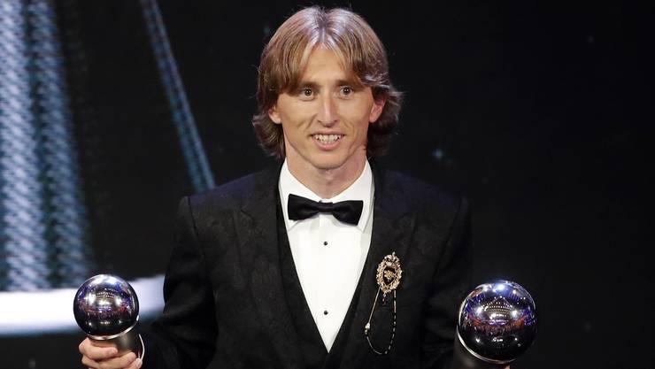 Luka Modric wurde zum Weltfussballer des Jahres gewählt.