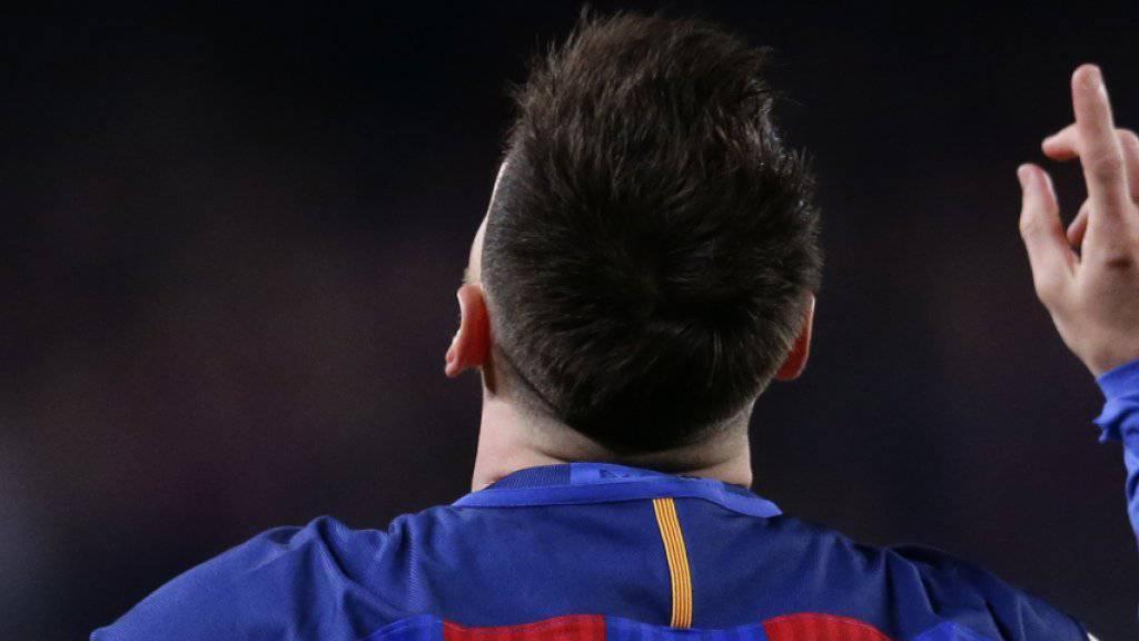 Mit göttlicher Hilfe? Lionel Messi hat zum achten Mal in Folge in einer Saison mehr als 40 Tore erzielt