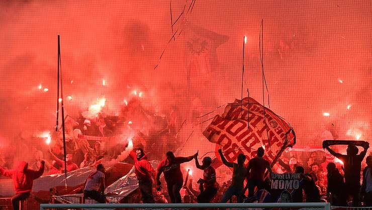 Die Fans von Roter Stern Belgrad gelten als heissblütig (Archivbild)
