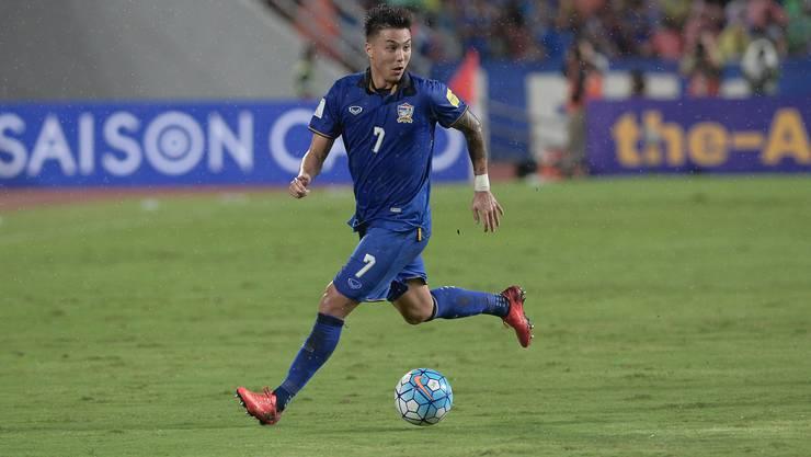 20 Partien für die thailändische Nationalmannschaft hat Charyl Chappuis bisher bestritten. Aktuell gehört er nicht zum Kader, doch ein Comeback ist sein grosses Ziel.