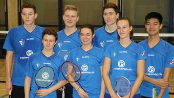 Das NLB-Team vom Sonntag (v.l.n.r. Silvan Furrer, Janis Aurillio, Timm Stern, Tamara Schmidli, Flurin Furrer, Natascha Korstick und Jailiang Zhang ).