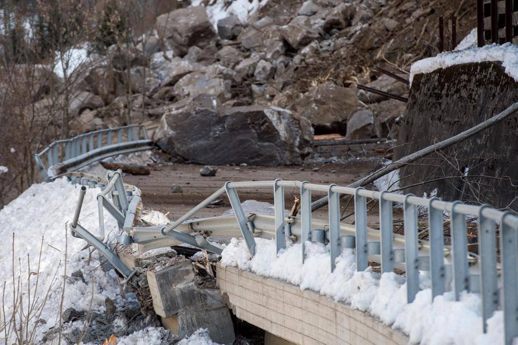 In Bildern: Hier rutschten die Erdmassen im Calancatal
