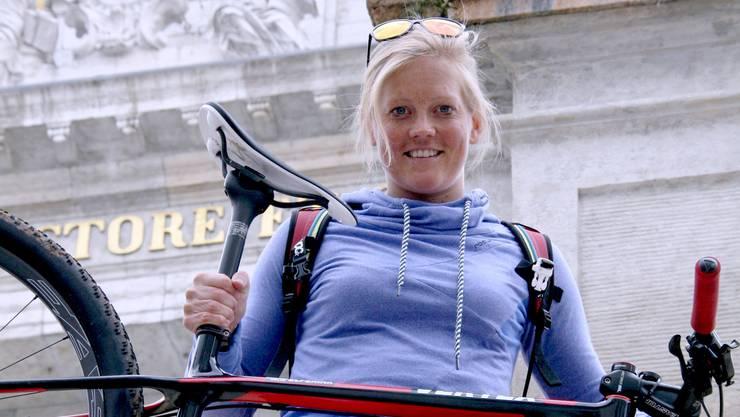 «Ich will einfach sehen und erleben, wie weit ich es als Mountainbikerin noch bringen kann», sagt die 30-jährige Mountainbikerin Hielke Elferink.