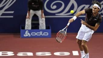 Mit Zwei-Satz-Sieg in die Viertelfinals: Roger Federer