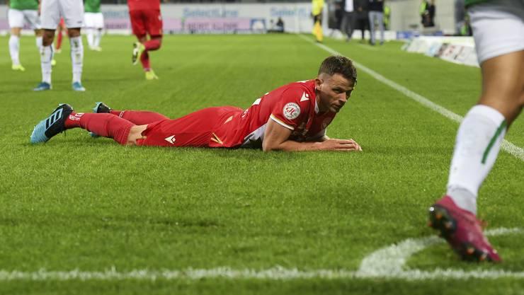 Im Moment passt nichts zusammen beim FC Thun mit Stefan Glarner. (Gian Ehrenzeller/Keystone)