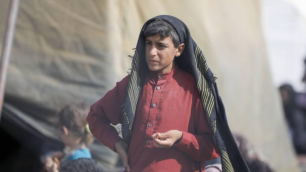 Afghanische Flüchtlinge Mitte August an der Grenze zum Iran. (Archivbild)
