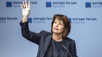 Bundespräsidentin Leuthard am Europa Forum in Luzern