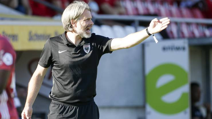 Stephan Keller kassiert mit dem FC Aarau die zweite Niederlage im dritten Spiel.