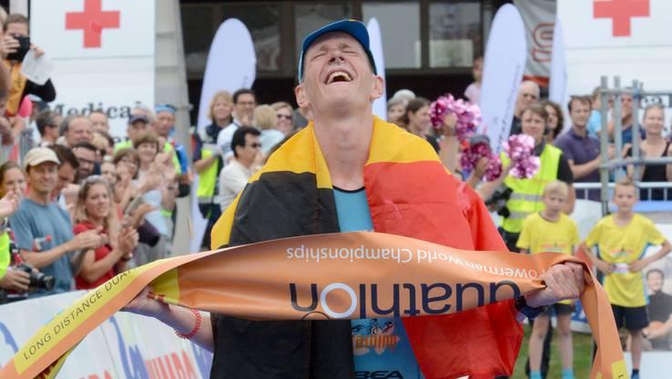 Der Belgier Seppe Odeyn hat das Ziel erreicht.