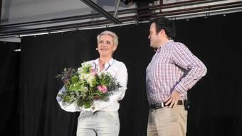 Steffi Buchli am Apéro Talk der Garage Vogelsang Grenchen