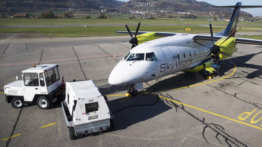 Die Fluggesellschaft SkyWork ist für den Flughafen Bern die wichtigste Fluggesellschaft. Sie operiert mit fünf Flugzeugen und beschäftigt etwas über hundert Angestellte. (Archivbild)