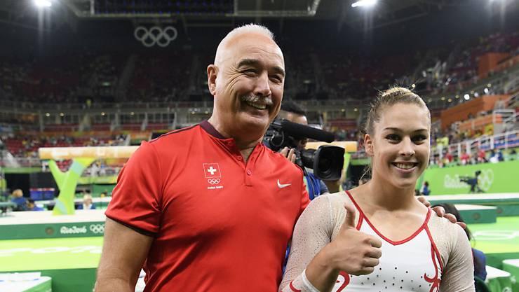 Zoltan Jordanov mit Giulia Steingruber in Rio
