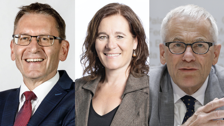 Unter anderem äussern sich CVP-Ständerat Pirmin Bischof (l.), SP-Nationalrätin Franziska Roth und FDP-Nationalrat Kurt Fluri (r.) zu drei Themen.