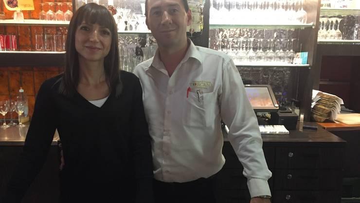 Elvira und Gino Ramadani in ihrem Restaurant Toscana.