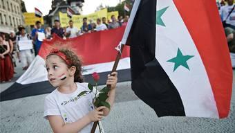 Kundgebung für Syrien auf dem Waisenhausplatz in Bern.Susanne Keller/AI
