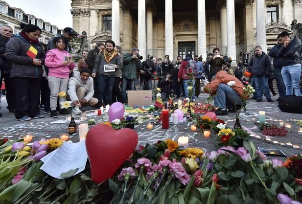 Trauer um die Opfer der Terroranschläge von Brüssel