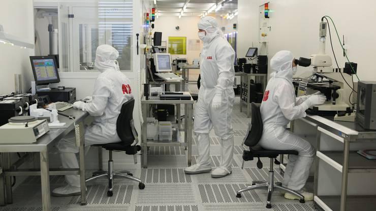 Die ABB verkauft ihre Stromnetzsparte nach Japan. Im Bild: die Halbleiterproduktionsstätte in Lenzburg.