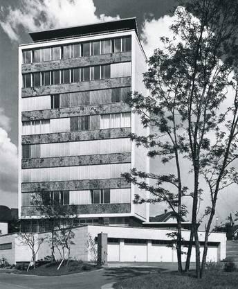 Das neue Verwaltungsgebäude war 1956 das erste Hochhaus in Brugg.
