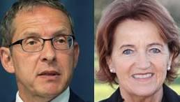 Regierungsrat Urs Hofmann und die Präsidentin der Gemeindeammänner-Vereinigung.