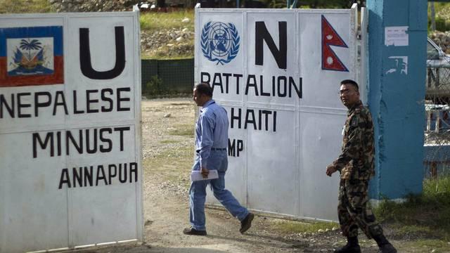 Hauptquartier der nepalesischen Blauhelme in Haiti