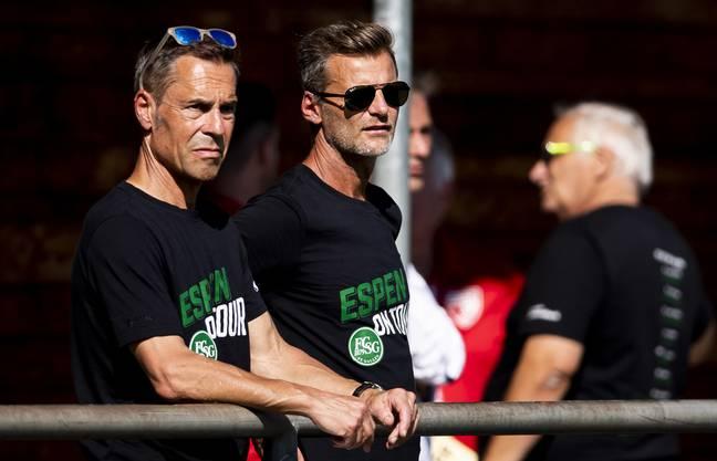 """Mit dem Projekt """"Espen on tour"""" war Matthias Hüppi (links) mit der Mannschaft in der Ostschweiz unterwegs."""