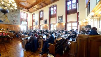 Nach 19 -stündiger Beratung, die sich über gut eine Woche erstreckte, hat die bürgerliche Kantonsratsmehrheit (vorne im Bild die CVP) ihr Budget durchgebracht. Marc Dahinden