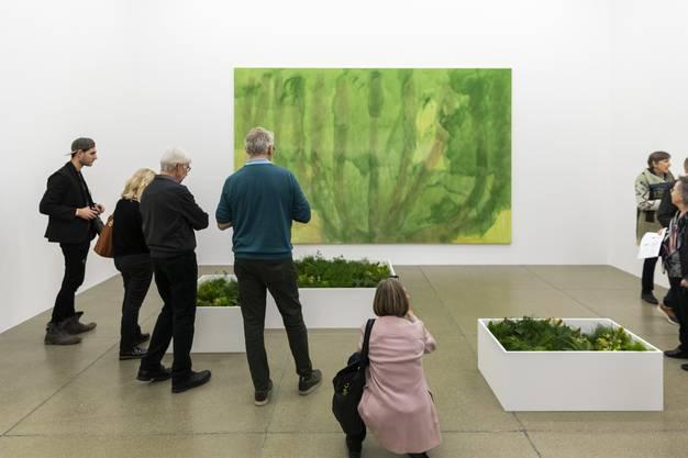 """Florale Interpretation von Luzia Blessner, Bronschhofen zu """"Ohne Titel"""", 2000, von Markus Döbeli"""