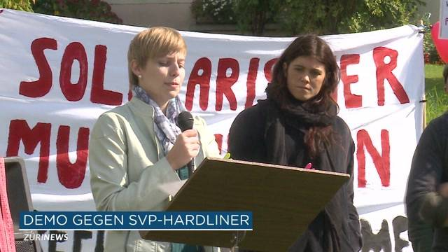 Demo gegen Asylpolitik in Oberwil-Lieli
