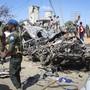Bei einem verheerenden Anschlag mit einem Sprengstoff beladenen Lastwagen in der somalischen Hauptstadt Mogadischu starben am Samstag knapp hundert Menschen. (Archivbild)