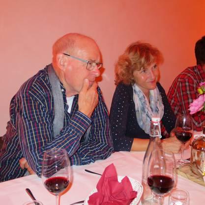 Walter Hofmann, ehemaliger Präsident Stiftungsrat, mit Marianne Plüss.