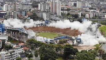 Das Dach der Fonte-Nova-Arena in Salvador ist eingestürzt.
