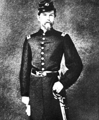 Emil Frey 1862 als Hauptmann im amerikanischen Bürgerkrieg.