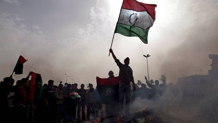 Rebellion aus Frust wegen nicht eingelöster Versprechen: Jugendliche 2011 in Libyen.  Kevin Frayer/Keystone