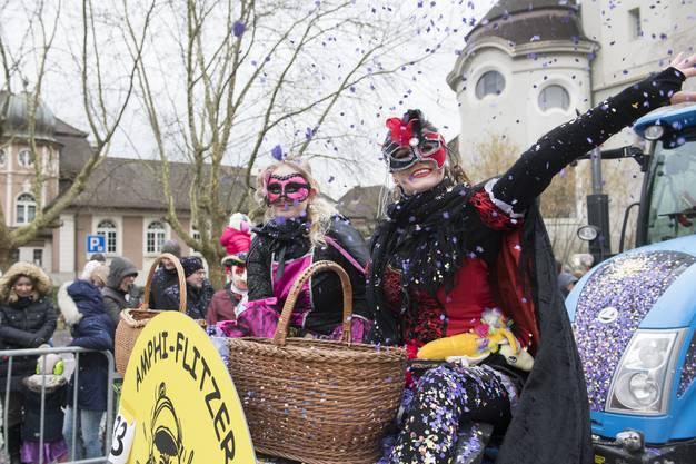 """Amphi-Flitzer, Windisch, """"Carnevale di Venezia"""", Fasnachtsumzug Brugg, 18. Fenruar 2018. Brugger Fasnacht"""