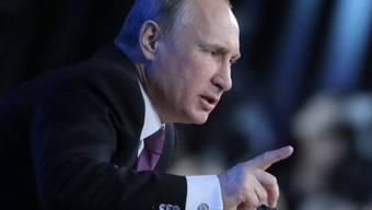 Wladimir Putin am Donnerstag an der Jahresmedienkonferenz