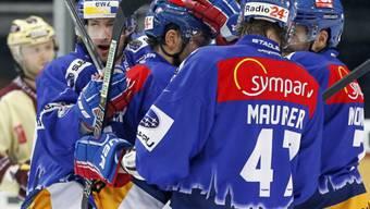 Marco Maurer (vorne) bringt die Lions und ihre Fans zum Jubeln.