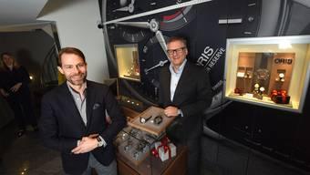 Alexander Seiler (l.) und Rolf Studer sind stolz auf den neuen Laden. Juri Junkov
