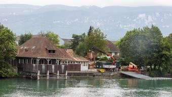 Das Clubhaus des Solothurner Ruderclubs wurde gnadelos abgerissen