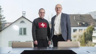 Politisieren seit rund einem Jahr gemeinsam im Gemeinderat von Unterengstringen: Schulpräsident Beat Fries (links) und Gemeindepräsident Simon Wirth.