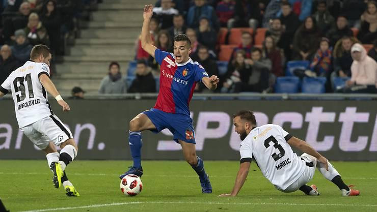 Kevin Bua erzielte für Basel die ersten beiden Tore